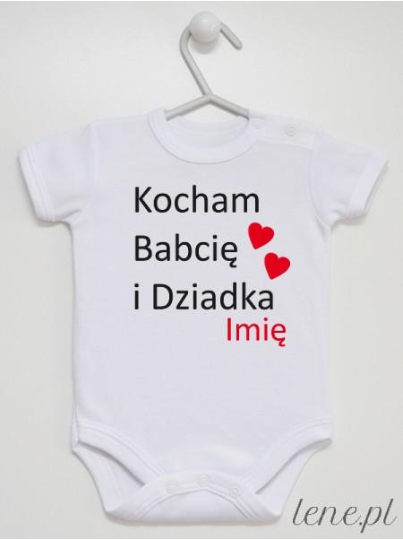 Kocham Babcię I Dziadka + Imię 01 - body niemowlęce
