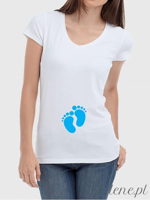 Bluzka damska Dziecięce Stópki Niebieskie