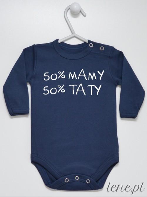 Body niemowlęce 50% Mamy 50% Taty