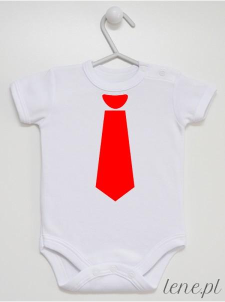 Krawat Czerwony - body niemowlęce