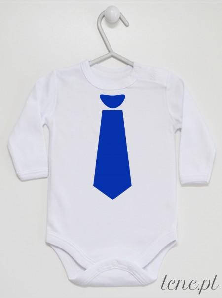 Krawat Niebieski 01 - body niemowlęce