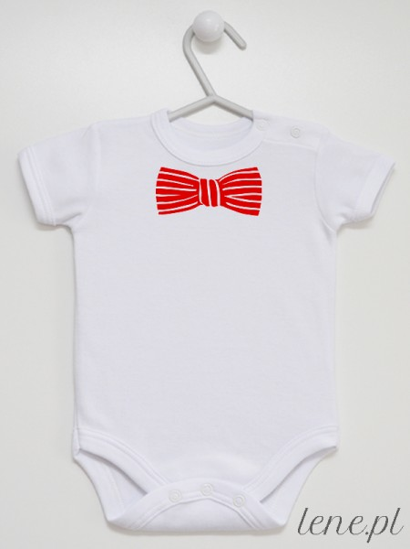Muszka Czerwona W Paski - body niemowlęce