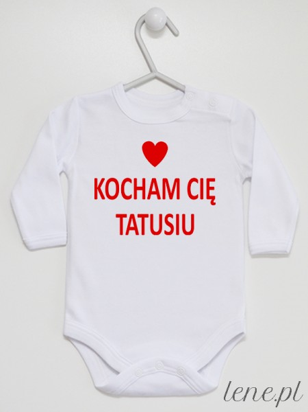 Napis Czerwony z Sercem Kocham Cię Tatusiu - body dla dzieci