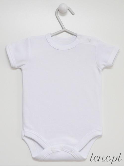 Body niemowlęce Białe Krótki Rękaw