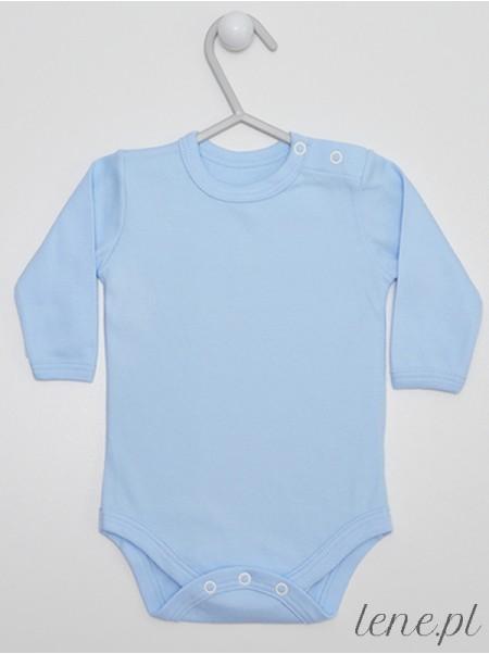 Błękitne Długi Rękaw - body niemowlęce