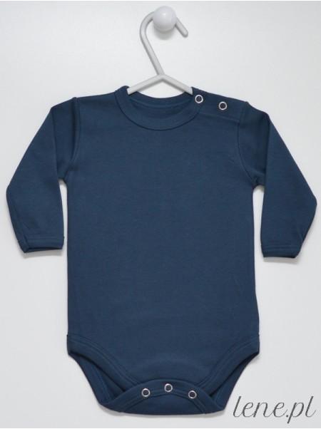 Granatowe Długi Rękaw - body niemowlęce