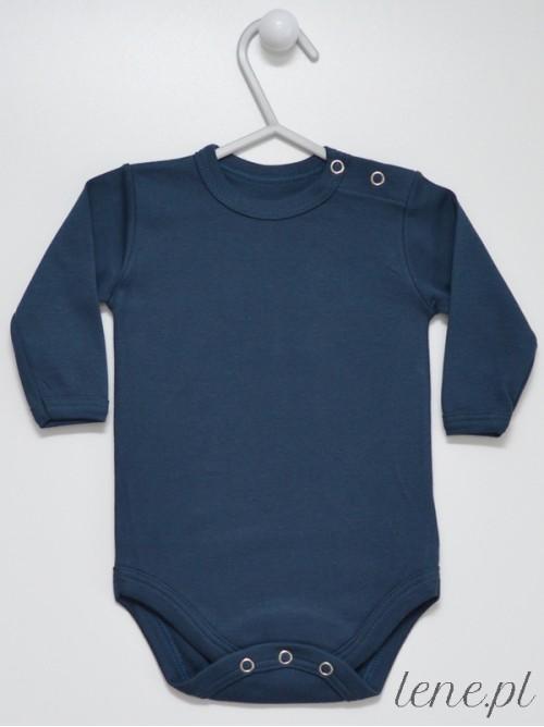 Body niemowlęce Granatowe Długi Rękaw
