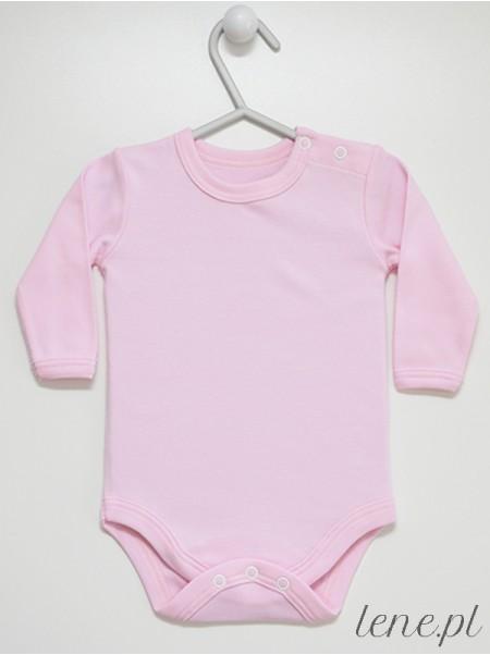 Różowe Długi Rękaw - body niemowlęce