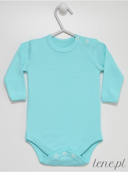 Turkusowe Długi Rękaw - body niemowlęce