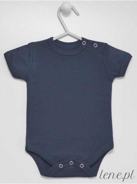 Granatowe Krótki Rękaw - body niemowlęce