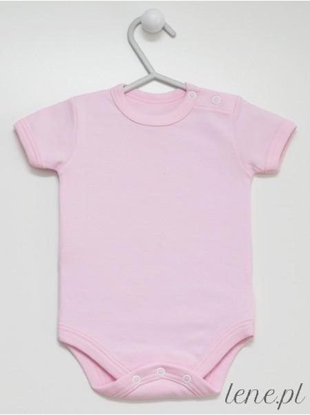 Różowe Krótki Rękaw - body niemowlęce