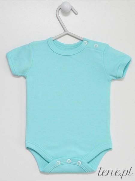 Turkusowe Krótki Rękaw - body niemowlęce
