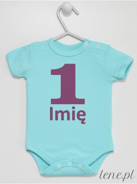 Na Roczek + Imię 03 - body niemowlęce