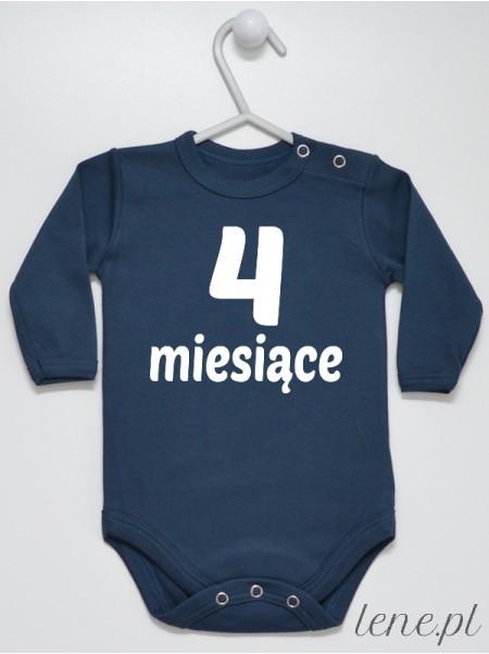 Cztery Miesiące - body niemowlęce z napisami dla dzieci