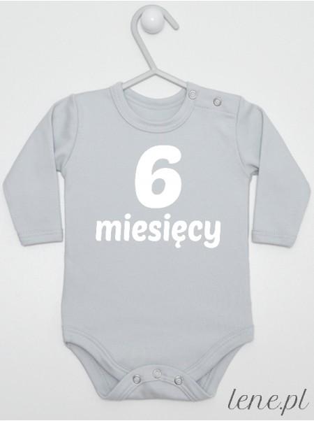 Sześć Miesięcy - body z napisami dla niemowlaka