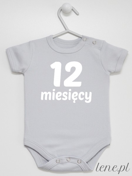 Dwanaście Miesięcy - bodziak dla niemowląt z nadrukiem