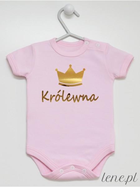 Królewna Nadruk Złoty - body niemowlęce