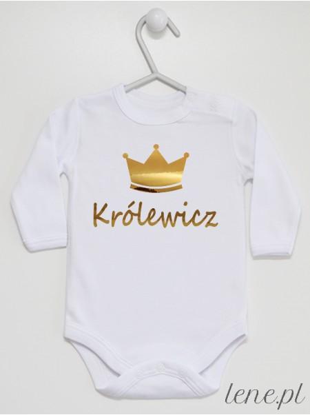 Królewicz Nadruk Złoty - body niemowlęce