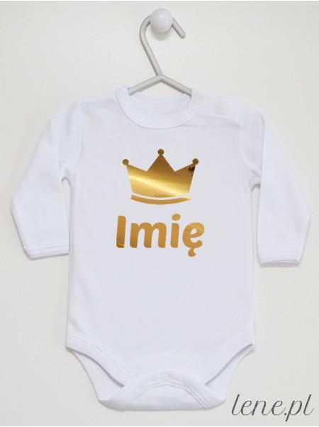 Korona z Imieniem 01 - body niemowlęce