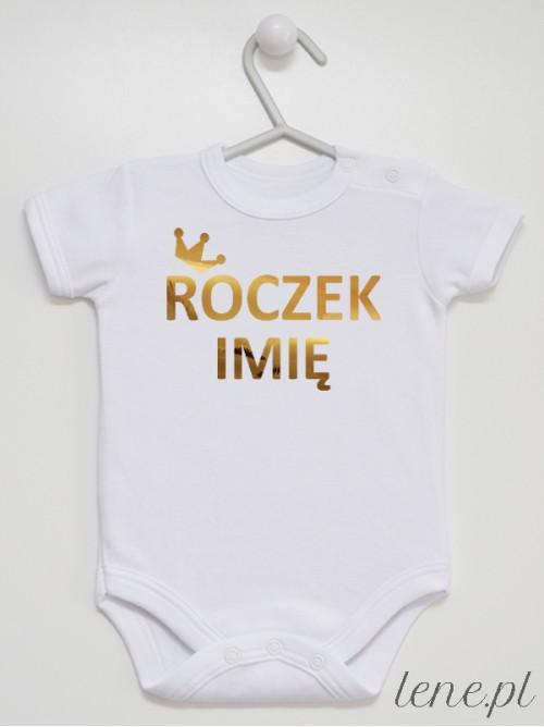 Body niemowlęce  Korona Roczek + Imię 01