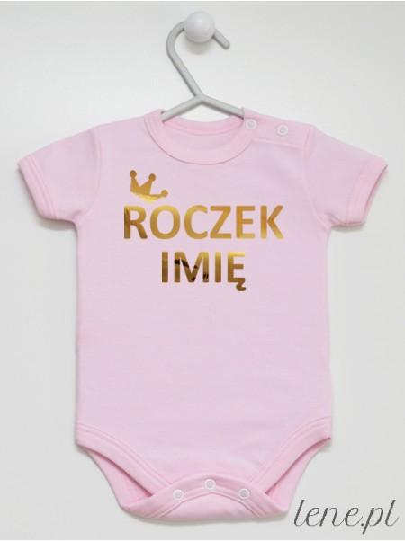 Korona Roczek Z Imieniem 01 - body niemowlęce