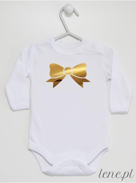 Kokardka Złota - body niemowlęce
