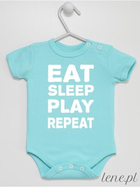 Eat Sleep Play Repeat - body niemowlęce