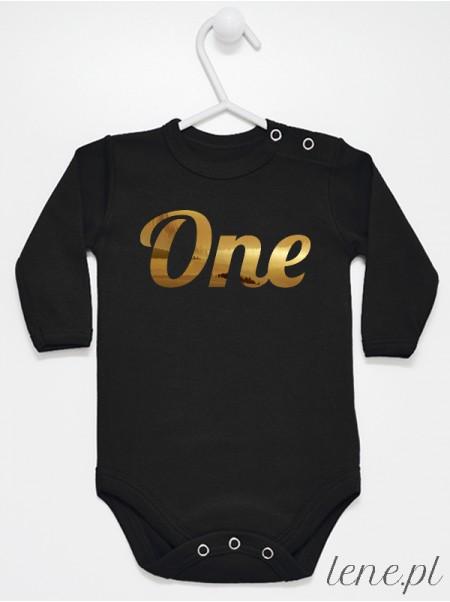 Body niemowlęce One rozmiar 74, długi rękaw, kolor czarny
