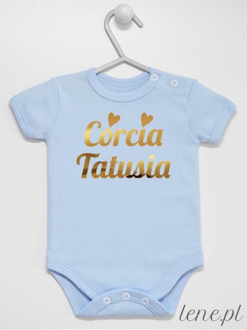 Body niemowlęce Córcia Tatusia 01 rozmiar 62, krótki rękaw, kolor błękitny