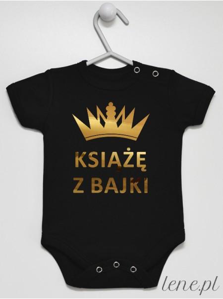 Książę z Bajki Nadruk Złoty z Koroną - body dla niemowlaka