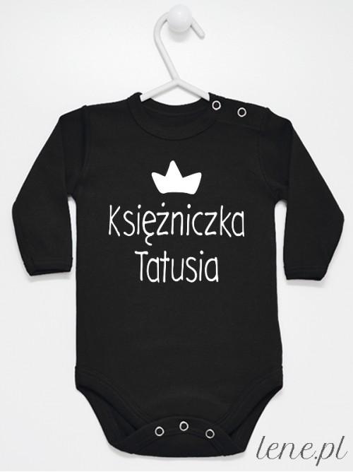 Body niemowlęce Księżniczka Tatusia rozmiar 74, długi rękaw, kolor czarny