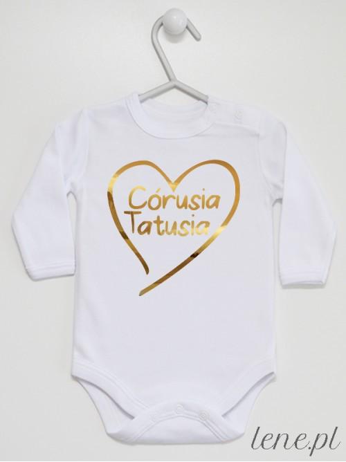 Body niemowlęce Córusia Tatusia rozmiar 56, długi rękaw, kolor biały