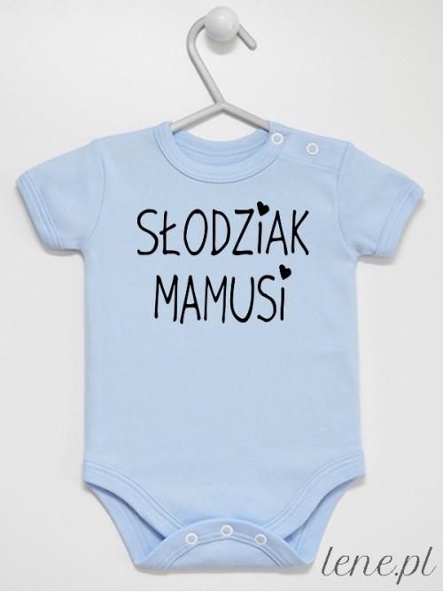 Body niemowlęce  Słodziak Mamusi kolor błękitny krótki rękaw rozmiar 74