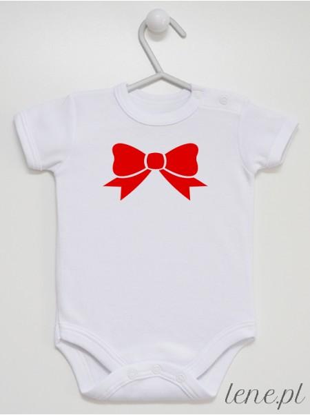 Kokardka Czerwona 01 - body niemowlęce