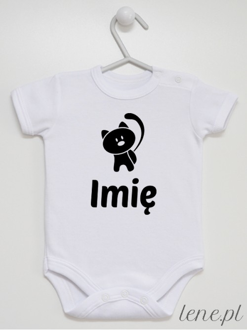 Body niemowlęce Kotek + Imię 02
