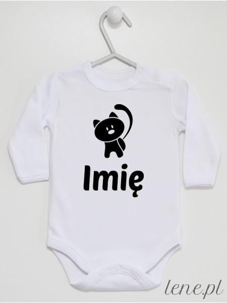 Kotek + Imię 02 - body niemowlęce