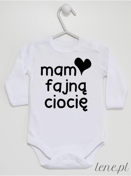 Mam Fajną Ciocię - body niemowlęce