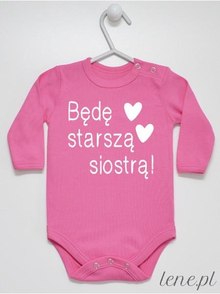 Będę Starszą Siostrą - body niemowlęce