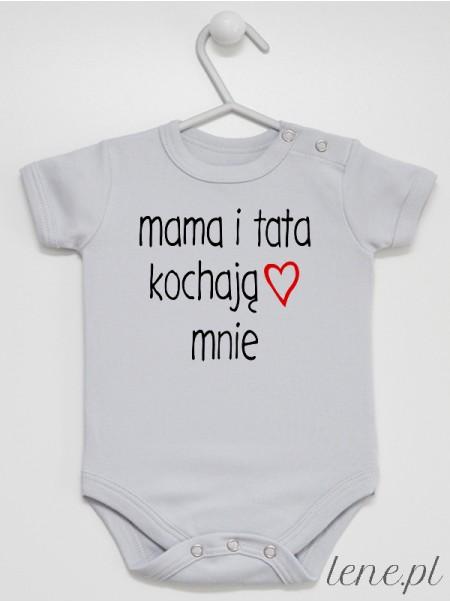 Mama I Tata Kochają Mnie - body niemowlęce