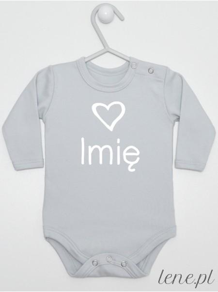 Serduszko + Imię 01 - body niemowlęce