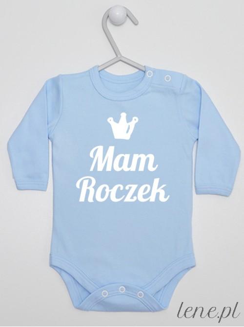 Body niemowlęce  Mam Roczek 01 błękitne długi rękaw rozmiar 80