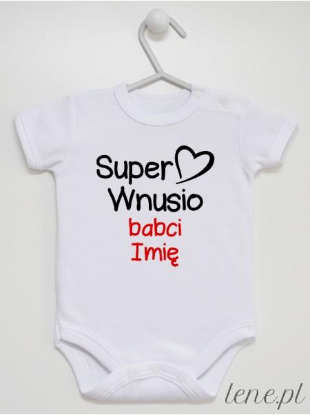 Super Wnusio + Imię Babci - body niemowlęce