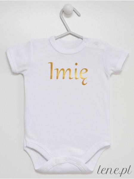 Personalizowany Nadruk Złoty - komplet niemowlęcy