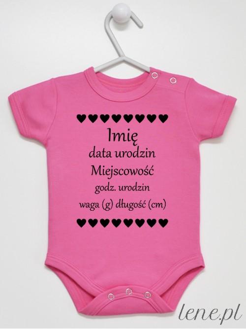 Body niemowlęce  Metryczka