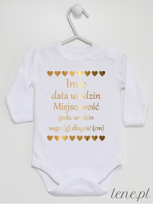 Body niemowlęce  Metryczka Złota