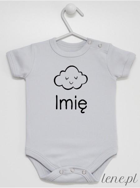 Chmurka + Imię - body niemowlęce