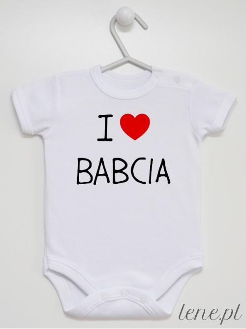 Body niemowlęce I Love Babcia