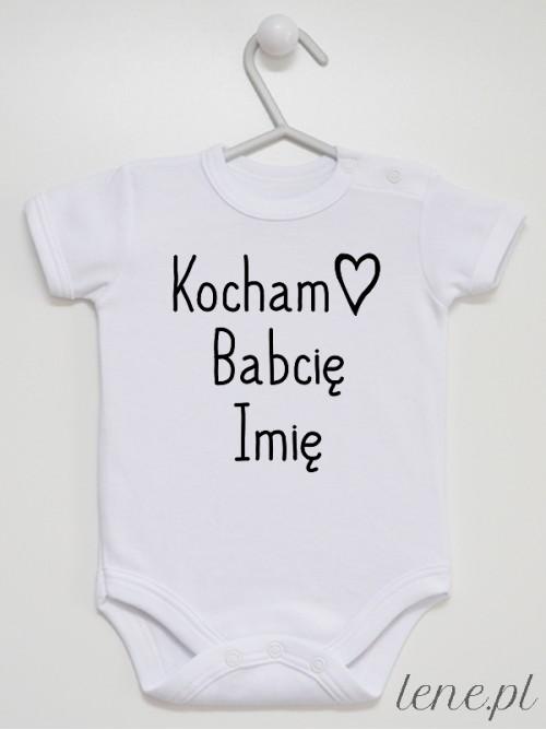 Body niemowlęce Kocham Babcię + Imię Babci