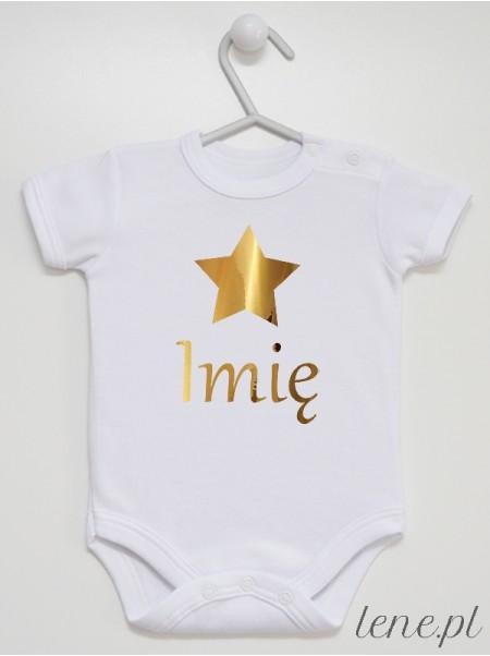 Gwiazdka Złota Z Imieniem - body niemowlęce