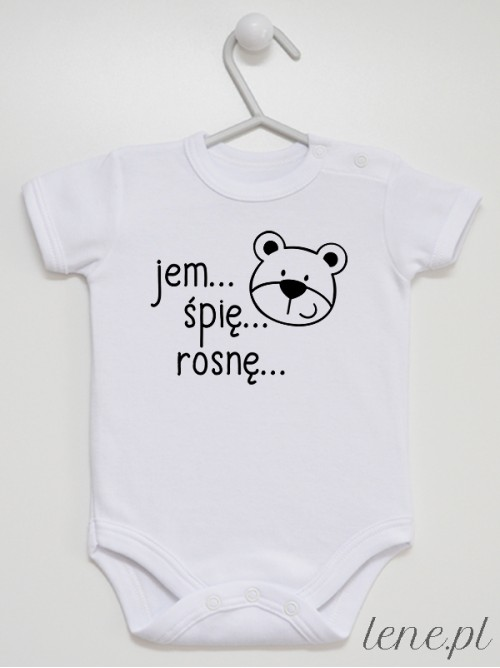 Body niemowlęce Jem Śpię Rosnę